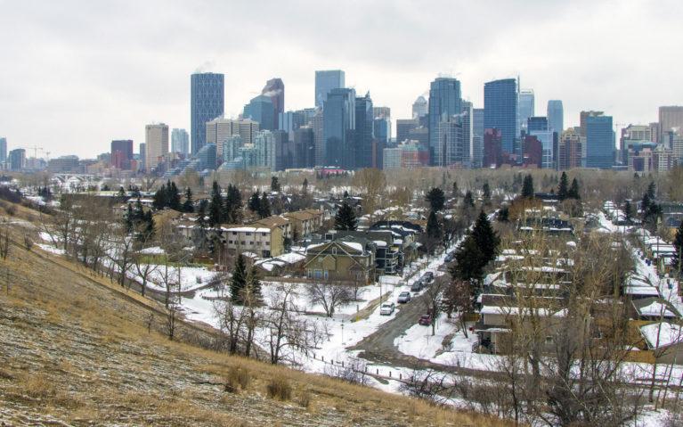 A Snowy Calgary Skyline :: I've Been Bit! A Travel Blog