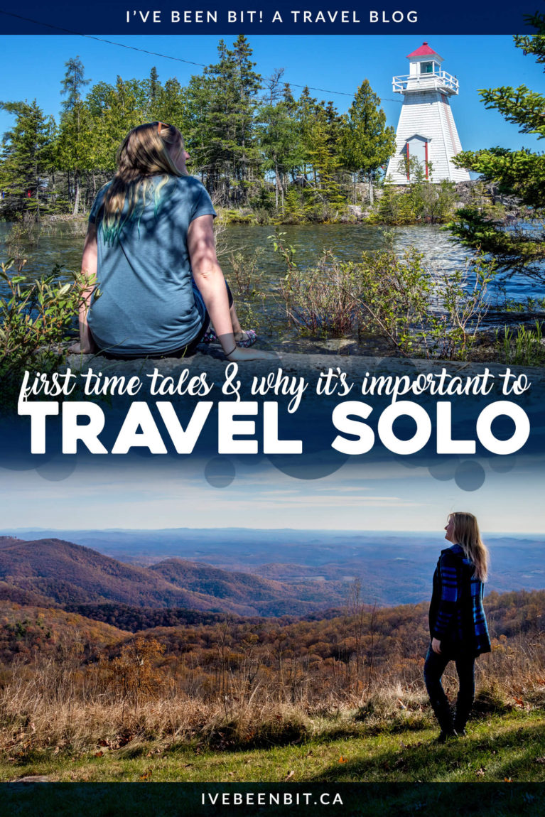 Solo travel is one of the most powerful things someone can do. While it can be daunting, trust me when I say you'll regret not travelling solo sooner! If you're wondering if you should travel alone, if it's safe or if you can do it, I've got the details inside along the story of my first solo adventure. Spoiler alert: the answer is YES, go travel solo! | #Travel #SoloTravel #FemaleSoloTravel #TravellingSolo | IveBeenBit.ca