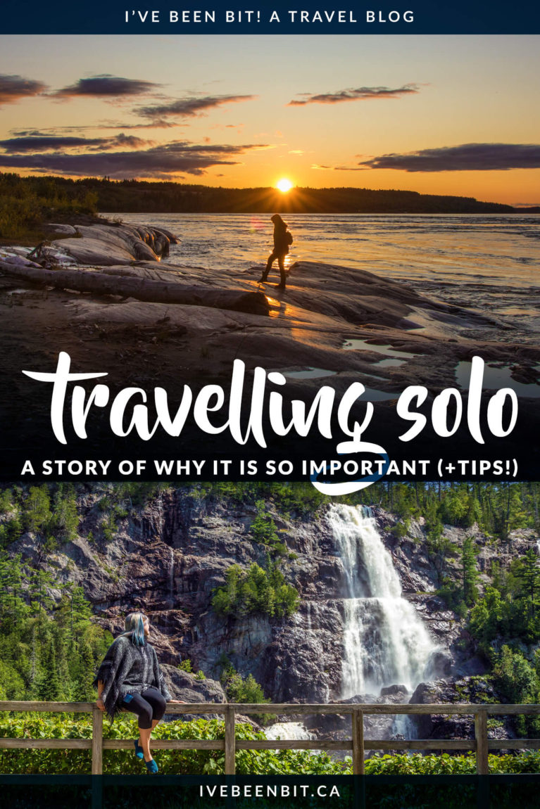 Solo travel is one of the most powerful things someone can do. While it can be daunting, trust me when I say you'll regret not travelling solo sooner! If you're wondering if you should travel alone, if it's safe or if you can do it, I've got the details inside along the story of my first solo adventure. Spoiler alert: in case you're wondering, the answer is YES, go travel solo! | #Travel #SoloTravel #TravellingSolo #FemaleSoloTravel | IveBeenBit.ca