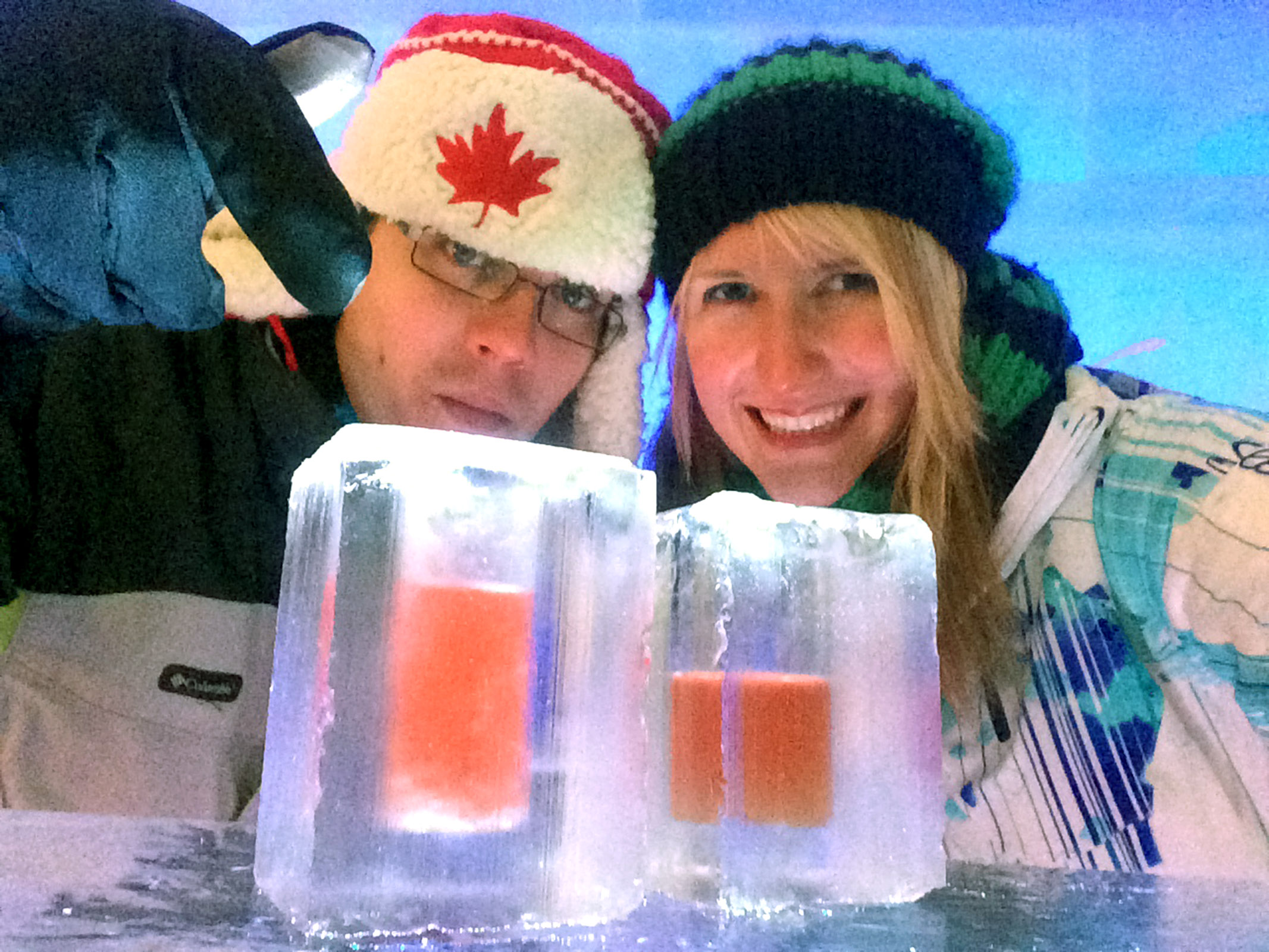 Fancy Drinks at the Hôtel de Glace :: A Night of Ice in Québec City :: I've Been Bit! A Travel Blog