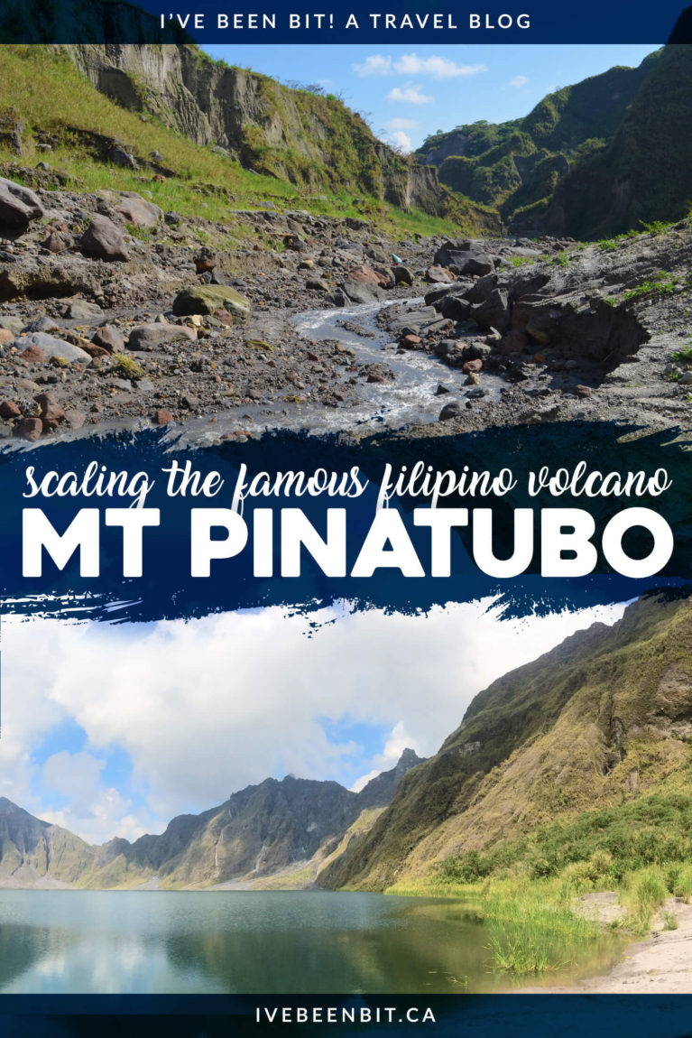 Located in Zambales in The Philippines, Mt Pinatubo is a must-do excursion when visiting the country. Inside you'll find all the details you need as well as what to expect when hiking to Mount Pinatubo's famous Crater Lake. | Hiking in The Philippines. Must Do Activities in The Philippines. | #Travel #Asia #ThePhilippines | IveBeenBit.ca