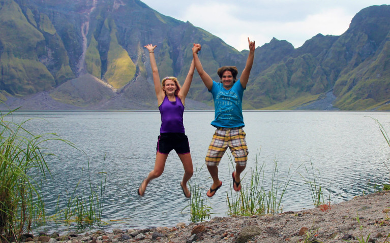 Semi-Failed Jump Shot - Mt Pinatubo Tour :: I've Been Bit! A Travel Blog