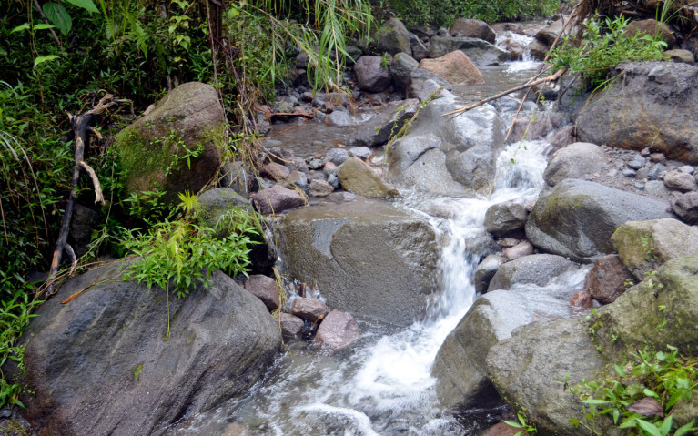 Waterfall on the way to Mount Pinatubo Crater - Mt Pinatubo Tour :: I've Been Bit! A Travel Blog