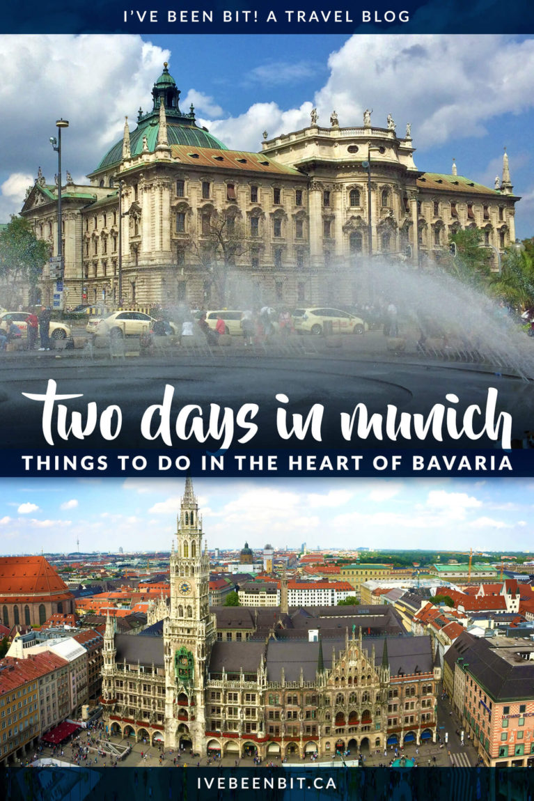 Planning to spend two days in Munich? Not sure what to do? These are all the things to do in Munich in the heart of Bavaria Germany. Plan your Germany vacation with this Munich itinerary! | #Travel #Germany #Bavaria #Munich #TravelItinerary | IveBeenBit.ca