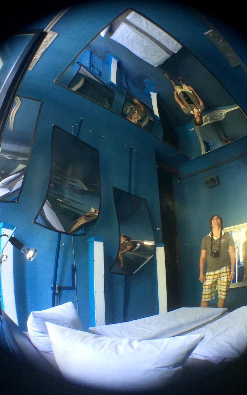 The Blue Room in Berlin's Propeller Island City Lodge :: I've Been Bit! A Travel Blog