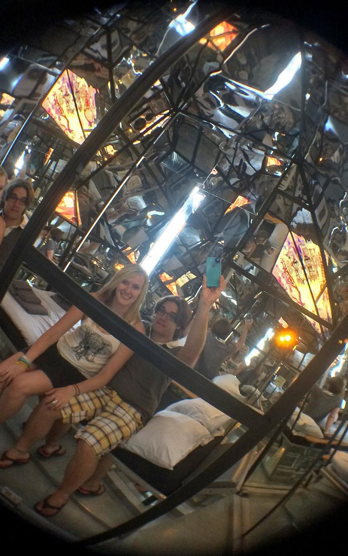 Propeller Island City Lodge's Mirror Room :: I've Been Bit! A Travel Blog