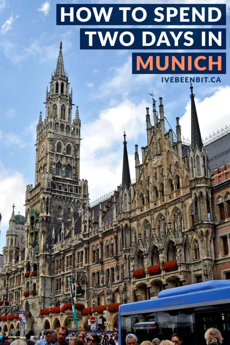 With beautiful buildings, amazing history & even better beer, this 2 days in Munich itinerary is a great way to get acquainted with the city! | #Travel #Europe #Germany #Munich #München #Itinerary | IveBeenBit.ca