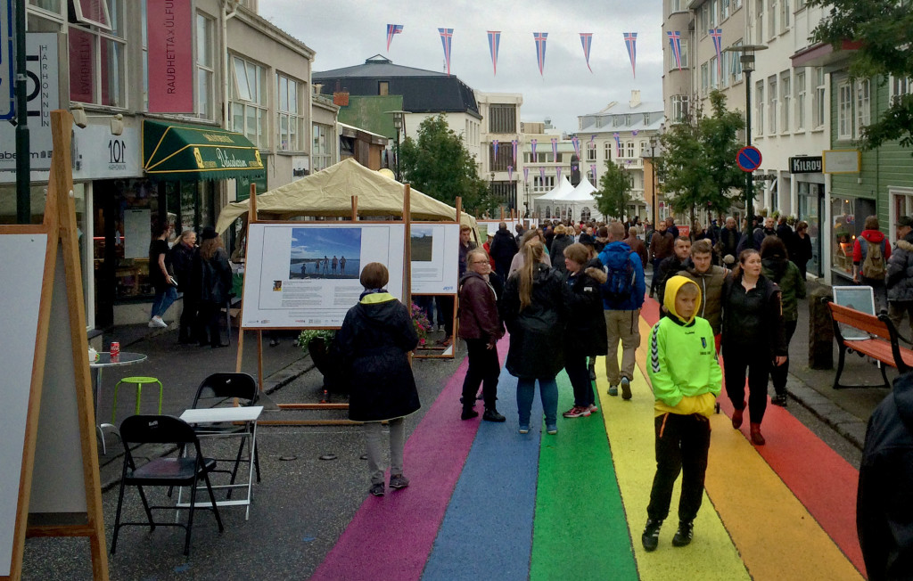The streets were busy in Reykjavík as it was a cultural celebration that night!