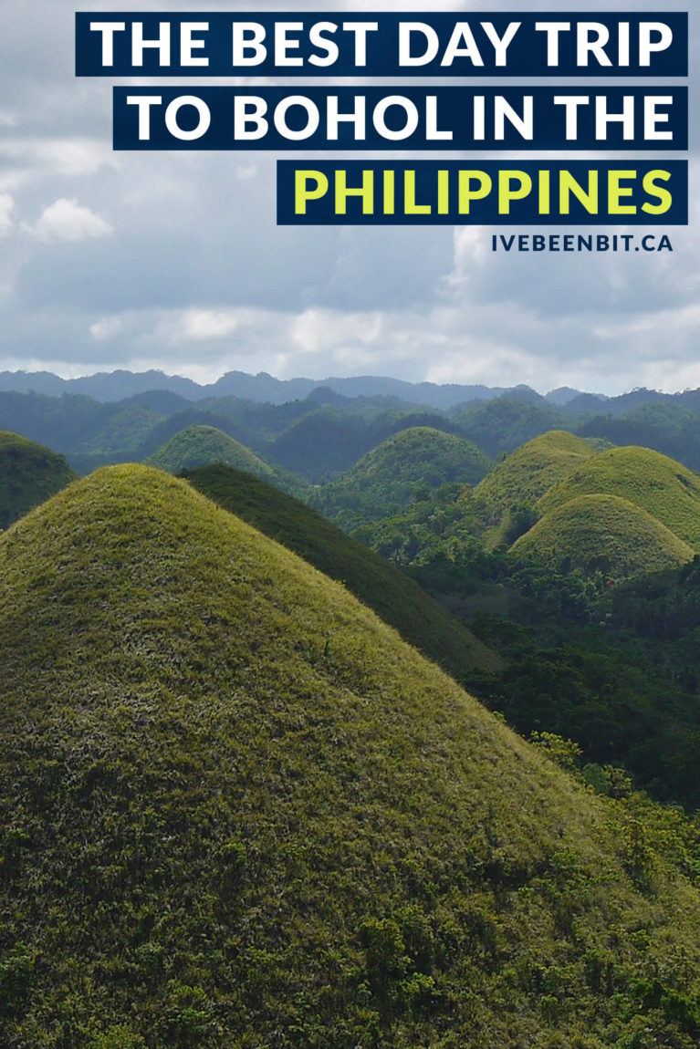 Even if you're short on time, you have to spend at least one day in Bohol! Home to the Chocolate Hills, tarsiers and more, there's so much to discover. When visiting The Philippines, you have to make a trip to Bohol! | #Travel #ThePhilippines #SoutheastAsia #Bohol #ChocolateHills #Tarsiers | IveBeenBit.ca