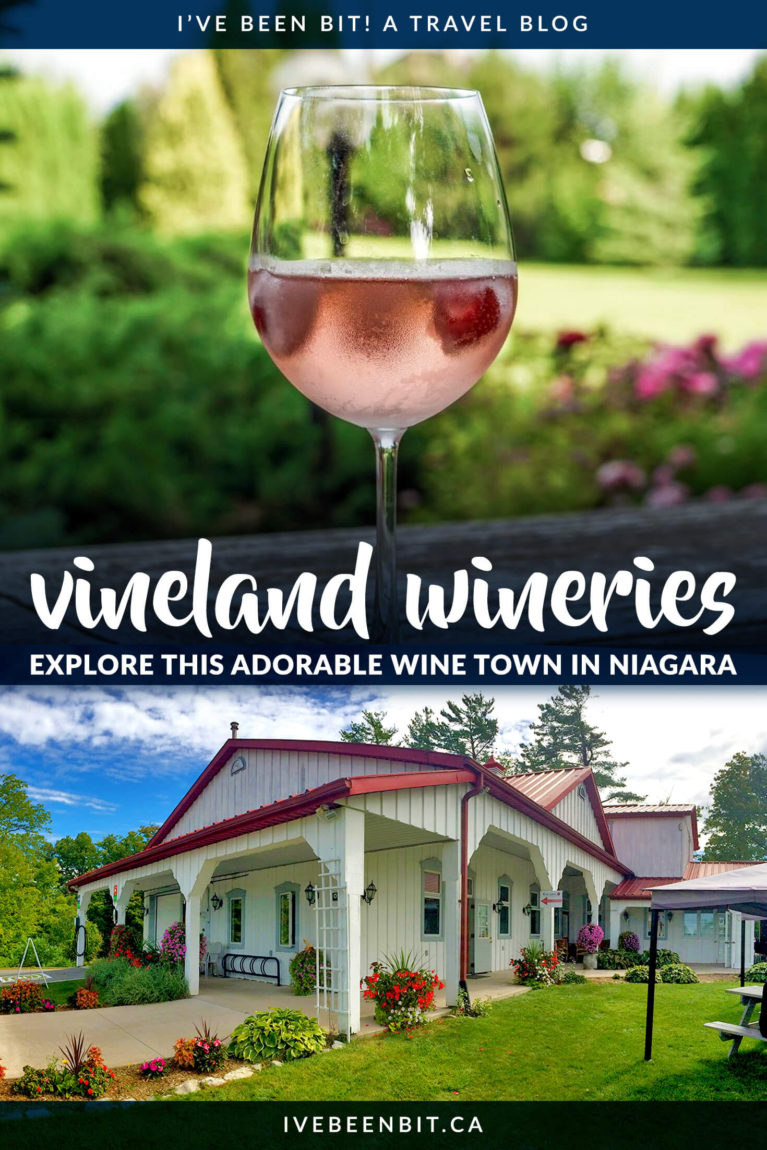 Everyone races to Niagara-on-the-Lake wineries for a taste of Ontario wine country but little do they know the hidden gem they pass along the way. Ditch the crowds with these Niagara wineries in Vineland Ontario! | Canadian Wineries | Ontario wineries | Wineries in Ontario | Best Wineries in Niagara | Wine Country in Ontario | Winery Ontario | Wine Tours Ontario | Ontario Wine Country | Canada Wine Country | Canadian Wine Country | #Ontario #Canada | IveBeenBit.ca