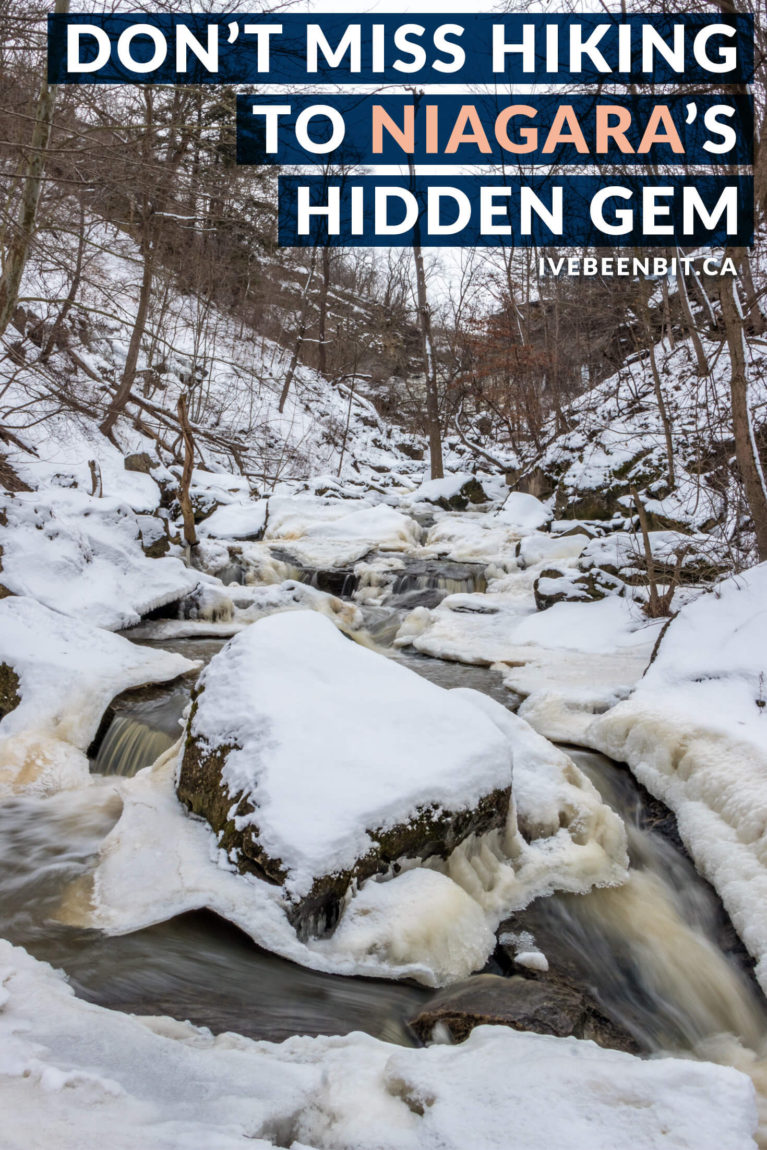 The Niagara Region is full of waterfalls and Rockway Falls is a hidden gem in the area. Check out this guide so you can see it for yourself! Hiking in Niagara. Waterfalls of Niagara Region. Waterfall Hiking in Niagara Ontario Canada. | #Travel #Canada #Ontario #Waterfall #Hiking #NiagaraRegion | IveBeenBit.ca