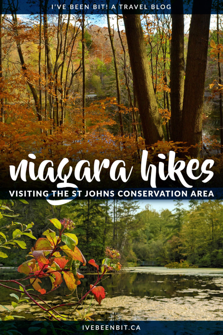 Looking for some lesser-known hiking trails to beat the crowds? You won't want to miss the Saint Johns Conservation Area in Fonthill! | Niagara Hiking | Niagara Falls Hiking | Hiking Near Niagara Falls Canada | Niagara Falls Canada Hiking | Hiking Trails Niagara | Ontario Hiking Trails | Hiking Ontario | Hiking Trails in Ontario | Hiking Trails Southern Ontario | #Ontario #Hiking | IveBeenBit.ca