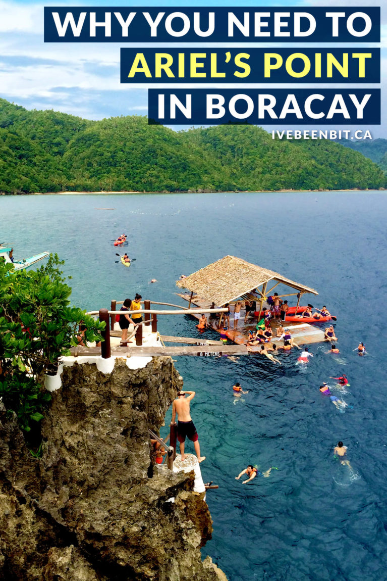 Boracay is known for its beautiful white sand beaches and turquoise waters, but what you may not realize is that there's an INCREDIBLE excursion there you don't want to miss! Get the adrenaline pumping with cliff diving and more with a trip to Ariel's Point from Boracay! | #Travel #ThePhilippines #Boracay #CliffDiving