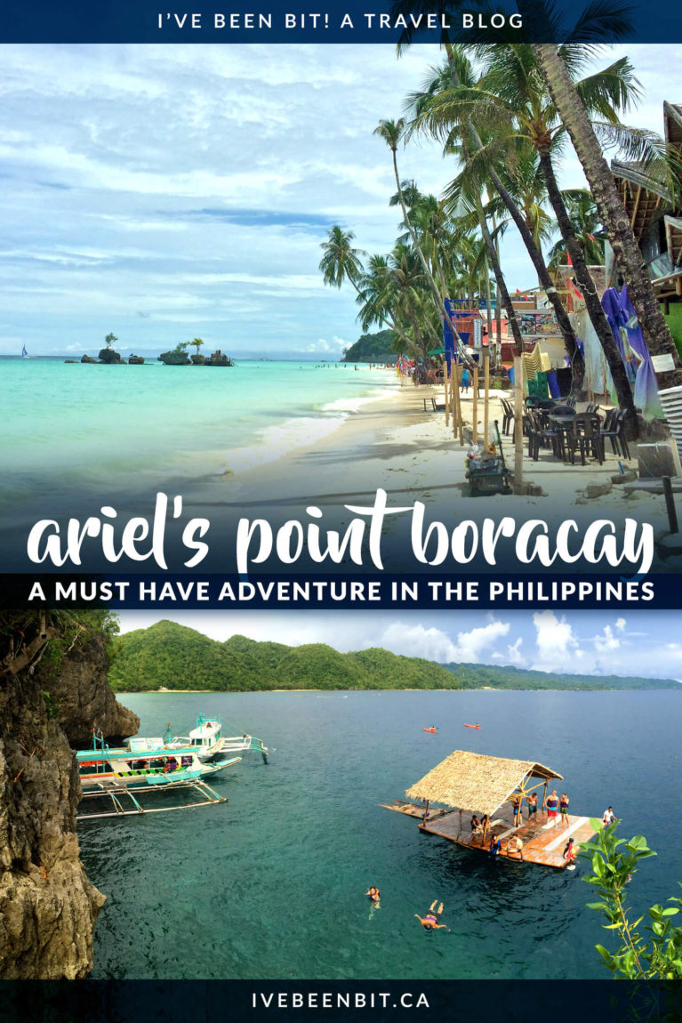 This is a top attraction in Boracay you don't want to miss! Be sure to plan a trip to Ariel's Point as part of your Boracay itinerary. This will be your favourite of all the things to do in Boracay! | #Travel #ThePhilippines #Boracay #CliffJumping | IveBeenBit.ca