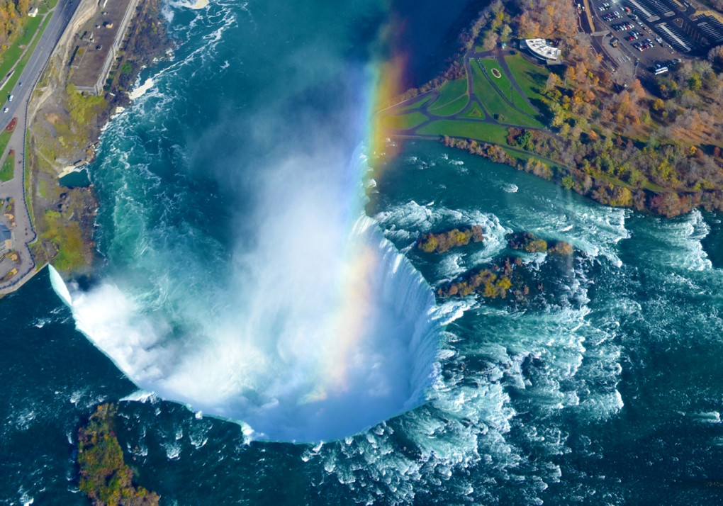View of Niagara Falls from above in a helicopter, definitely an Ontario Summer Bucket List item! :: I've Been Bit! Travel Blog