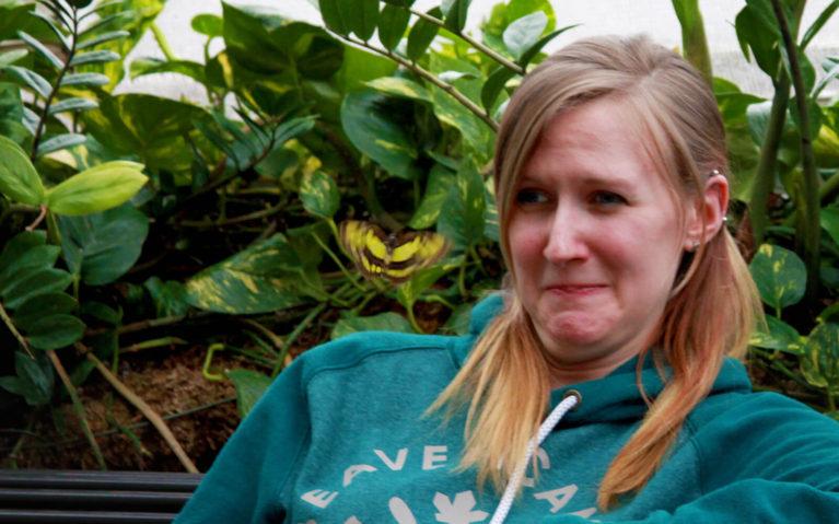 Lindsay Making a Weird Face as a Butterfly Flies at Her Head :: I've Been Bit! Travel Blog