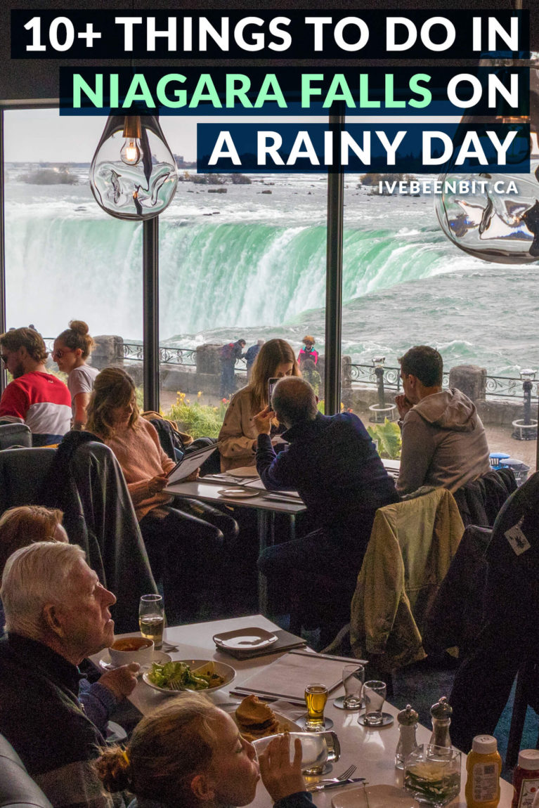 Travelling to Niagara Falls but the weather forecast is looking bleak? Never fear! There are plenty of great things to do in Niagara Falls on a rainy day. From butterflies to arcades, you won't want to miss these indoor attractions in Niagara Falls Ontario Canada. | What to Do in Niagara Falls on a Rainy Day | Rainy Day in Niagara Falls. | Visiting Niagara Falls in the Rain | Ontario Travel | Canada Travel | IveBeenBit.ca