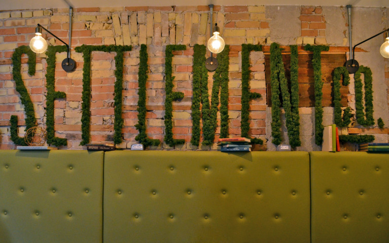 Living Wall in Settlement Co Uptown Waterloo :: I've Been Bit! A Travel Blog