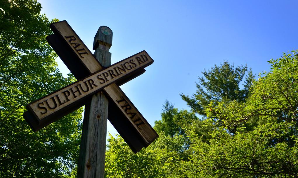 Sulphur Line Rail Trail Sign :: I've Been Bit! Travel Blog