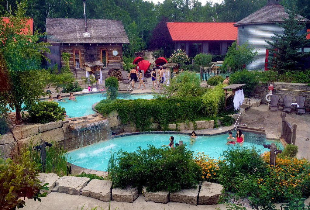 View of the Scandinave Spa from the Main Entrance :: I've Been Bit! Travel Blog