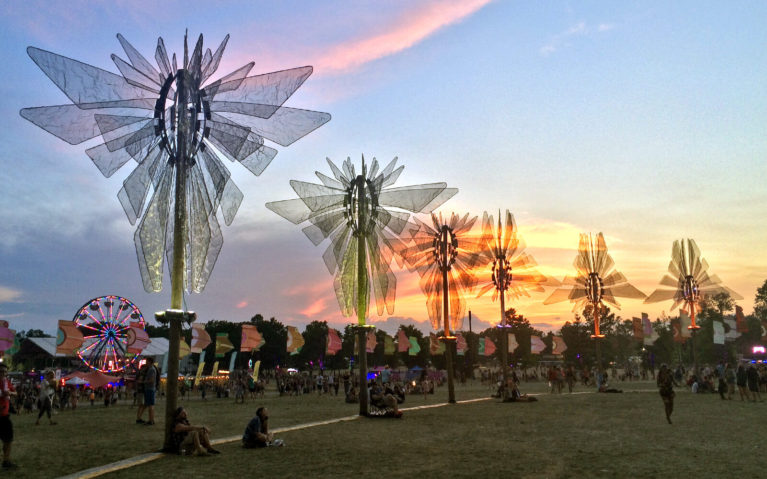 Sunset Over the WayHome Music Festival Grounds :: I've Been Bit! Travel Blog