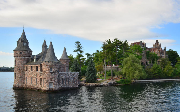 View of Boldt Castle from Thousand Islands Cruise :: I've Been Bit! Travel Blog