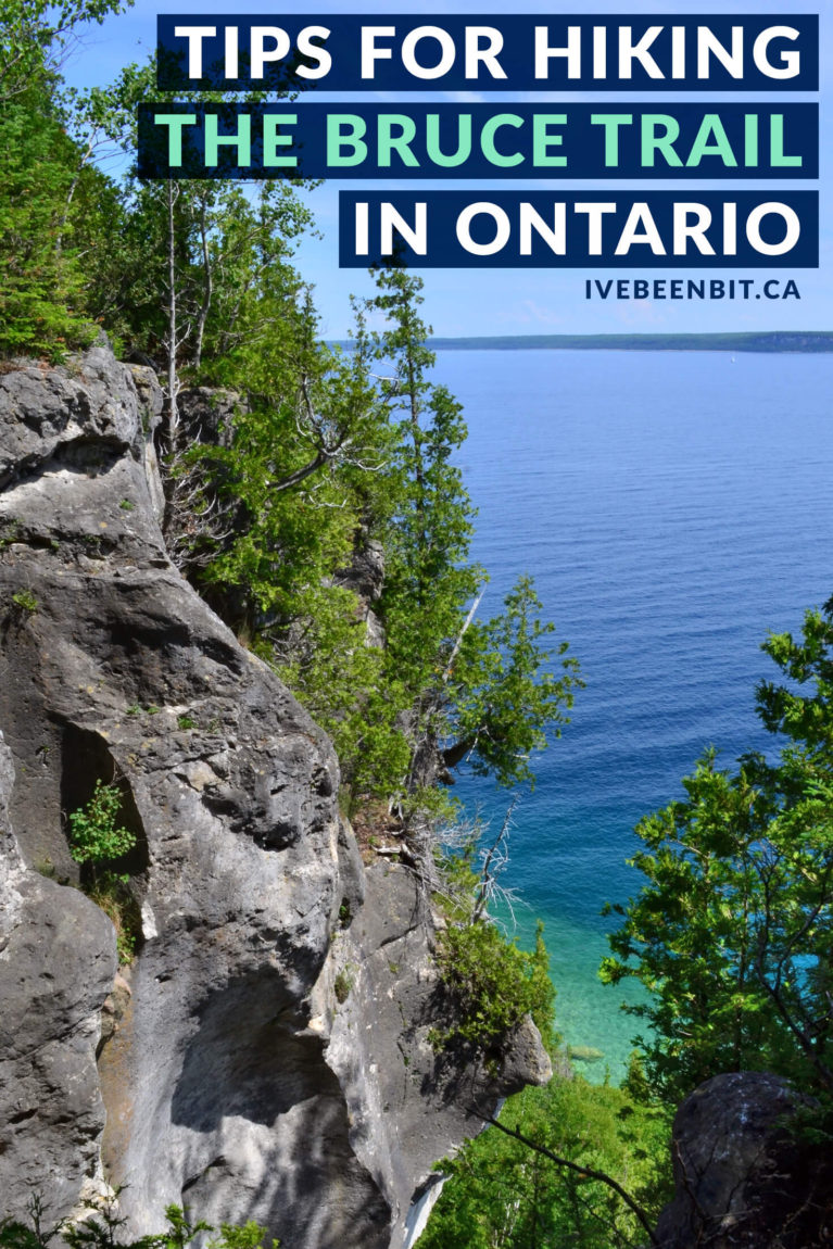 Guide to hiking The Bruce Trail in Ontario, Canada. Tips and tricks for The Bruce Trail hiking. Must do hike in Ontario, Canada. Must visit destination in Canada. | #Travel #Canada #Ontario #BruceTrail #Hiking #HikingTrail | IveBeenBit.ca