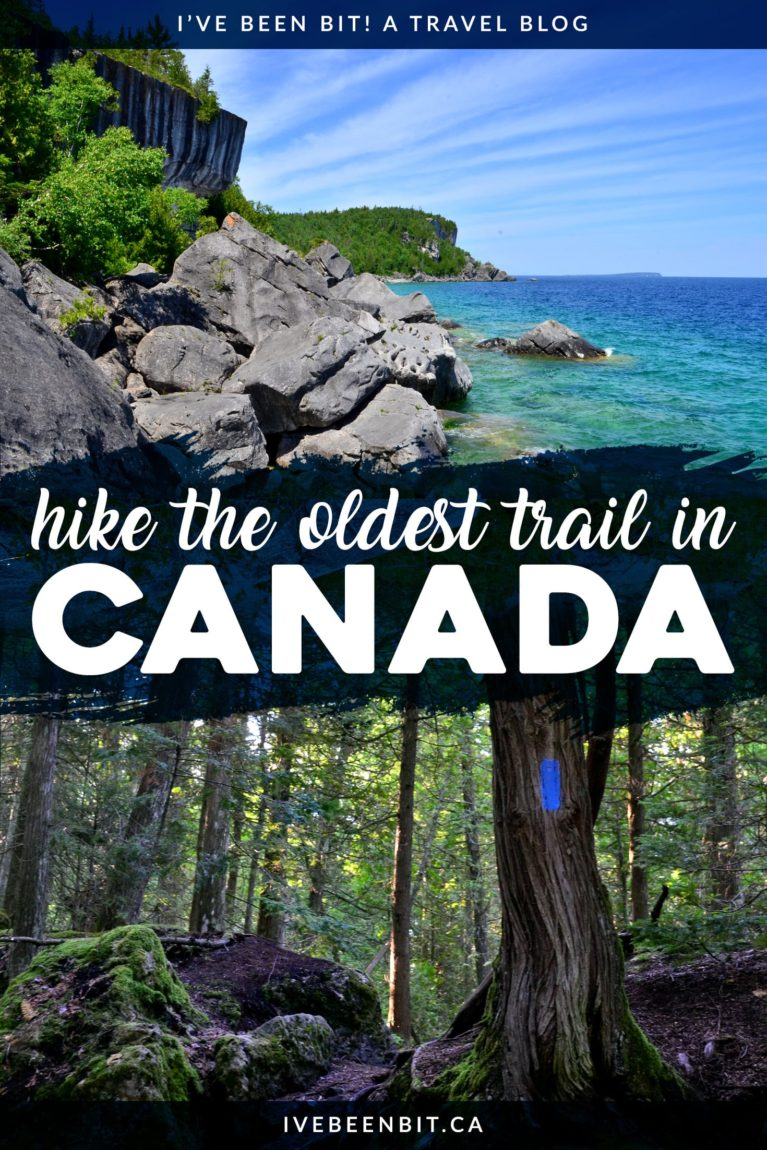 Planning to hike the oldest marked trail in Canada? This is the ultimate guide to the Bruce Trail in Ontario. One of the best hikes in Canada, it's one you certainly can't miss! Tips for hiking in Ontario. Ontario Canada hiking guide. | #Travel #Canada #Ontario #Hiking #BruceTrail #BrucePeninsula #NiagaraFalls #Toronto | IveBeenBit.ca