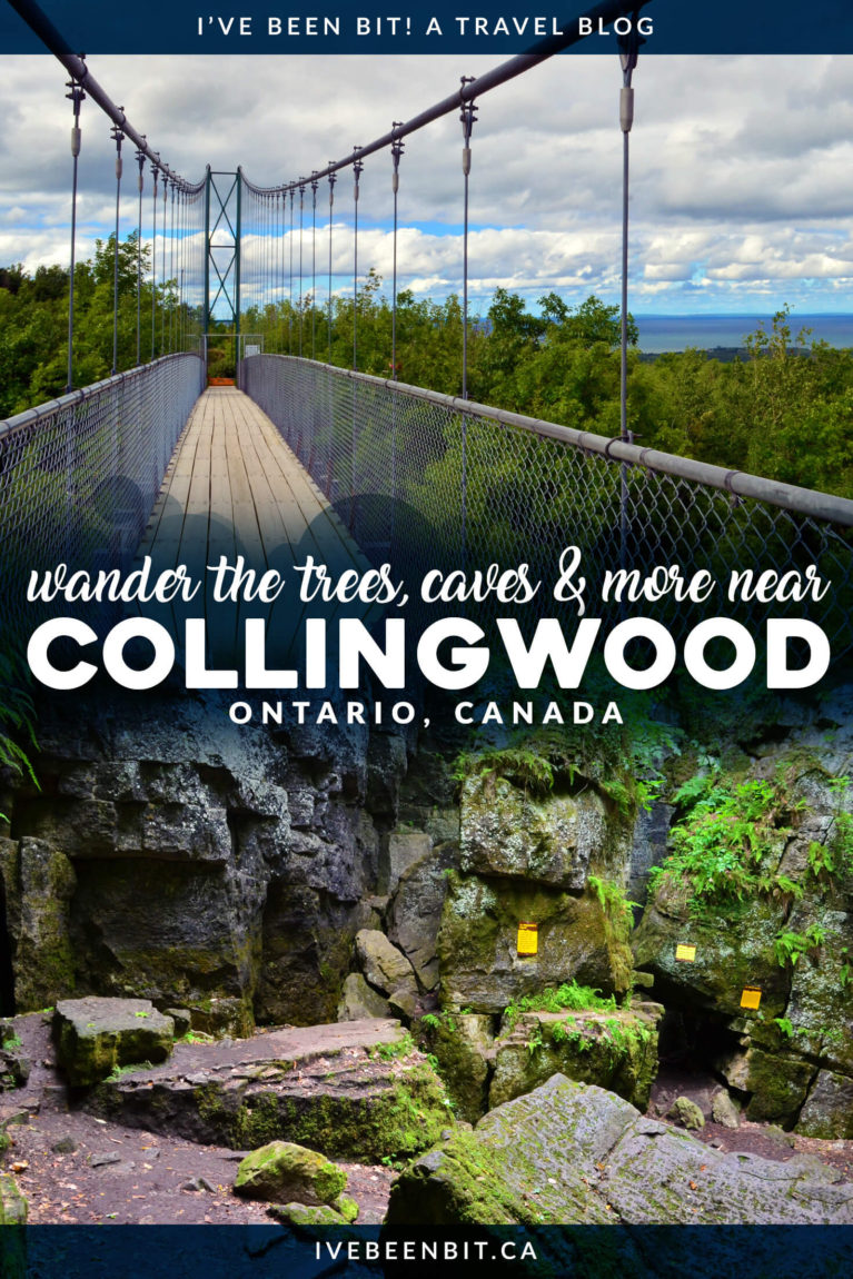 Looking for some serious Ontario adventure? Head to South Georgian Bay where you can soar through the treetops via zipline, explore caves and more at Scenic Caves Nature Adventures. With so many incredible things to do in Ontario, you have to add this to your summer Ontario bucket list! Whether you're visiting Collingwood or looking for a day trip from Toronto, this is a must do in Ontario Canada. | #Travel #Canada #Ontario #GeorgianBay | IveBeenBit.ca