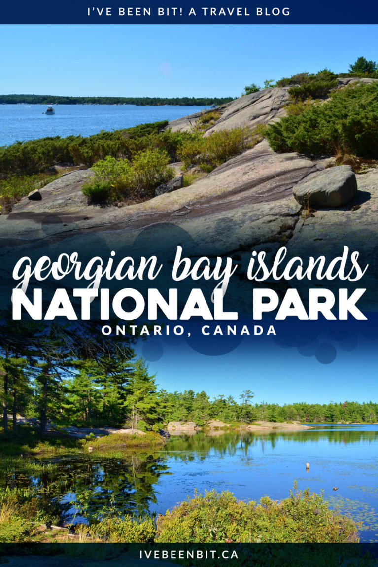 Georgian Bay is home to the smallest national park in all of Canada - Georgian Bay Islands National Park. This Ontario gem is full of gorgeous Canadian landscapes that are waiting to be your next outdoor adventure destination. Check out this Georgian Bay Islands National Park guide to plan your visit. | #Travel #Canada #Ontario #NationalPark #ParksCanada #Hiking | IveBeenBit.ca