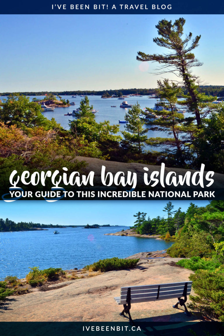 Want to explore the smallest national park in all of Canada? You have to check out this Georgian Bay Islands National Park guide to plan your visit! This Ontario gem is full of gorgeous Canadian landscapes that are waiting to be your next outdoor adventure destination. | #Travel #Canada #Ontario #NationalPark #ParksCanada #Hiking | IveBeenBit.ca