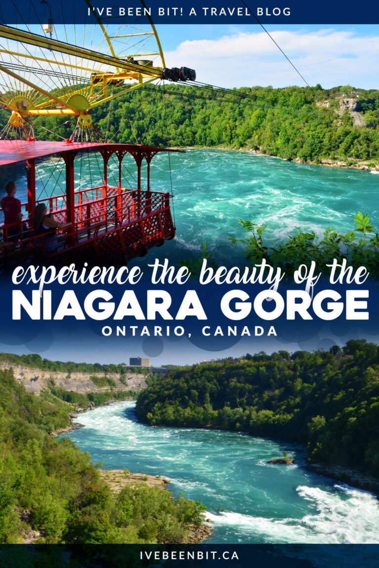 Everyone flocks to Niagara Falls but little do they realize the natural wonder of the Niagara Gorge. Admire its sheer cliffs as you experience it in a new light with these 5 things to do in Niagara Falls Ontario Canada. | Explore the Niagara Gorge in Ontario | Niagara Falls Whitewater Rapids | Hiking Trails in Niagara Falls | Niagara Falls Attractions | IveBeenBit.ca