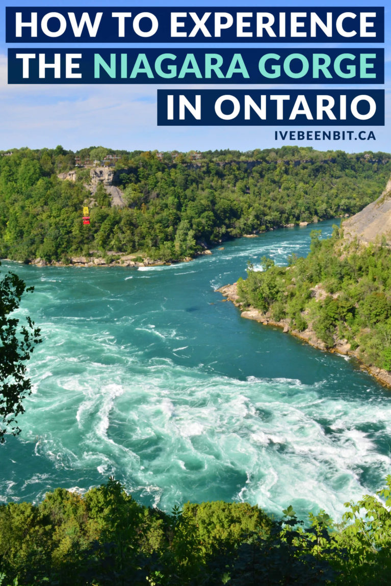 Everyone flocks to Niagara Falls but little do they realize the natural wonder of the Niagara Gorge. Admire its sheer cliffs as you experience it in a new light with these 5 things to do in Niagara Falls Ontario Canada. | Explore the Niagara Gorge in Ontario | Hiking Trails in Niagara Falls | Niagara Falls Attractions | Niagara Falls Whitewater Rapids | IveBeenBit.ca