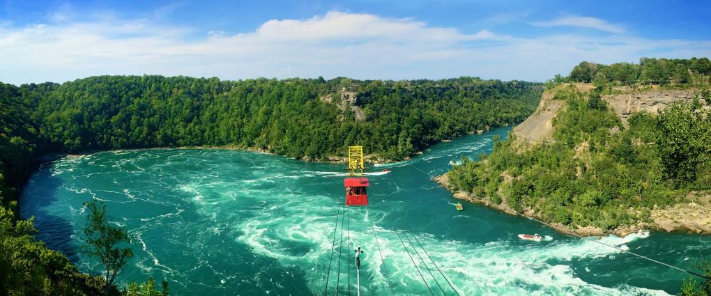Panorama of the Whirlpool Aero Car and Niagara Gorge :: I've Been Bit! A Travel Blog