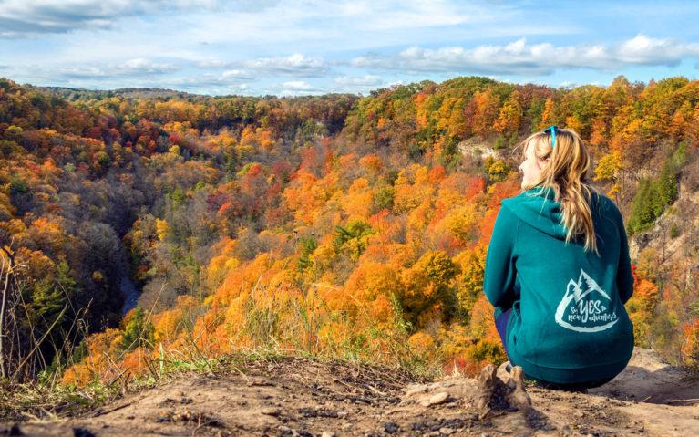 Lindsay Overlooking Dundas Peak Fall Views :: I've Been Bit! Travel Blog