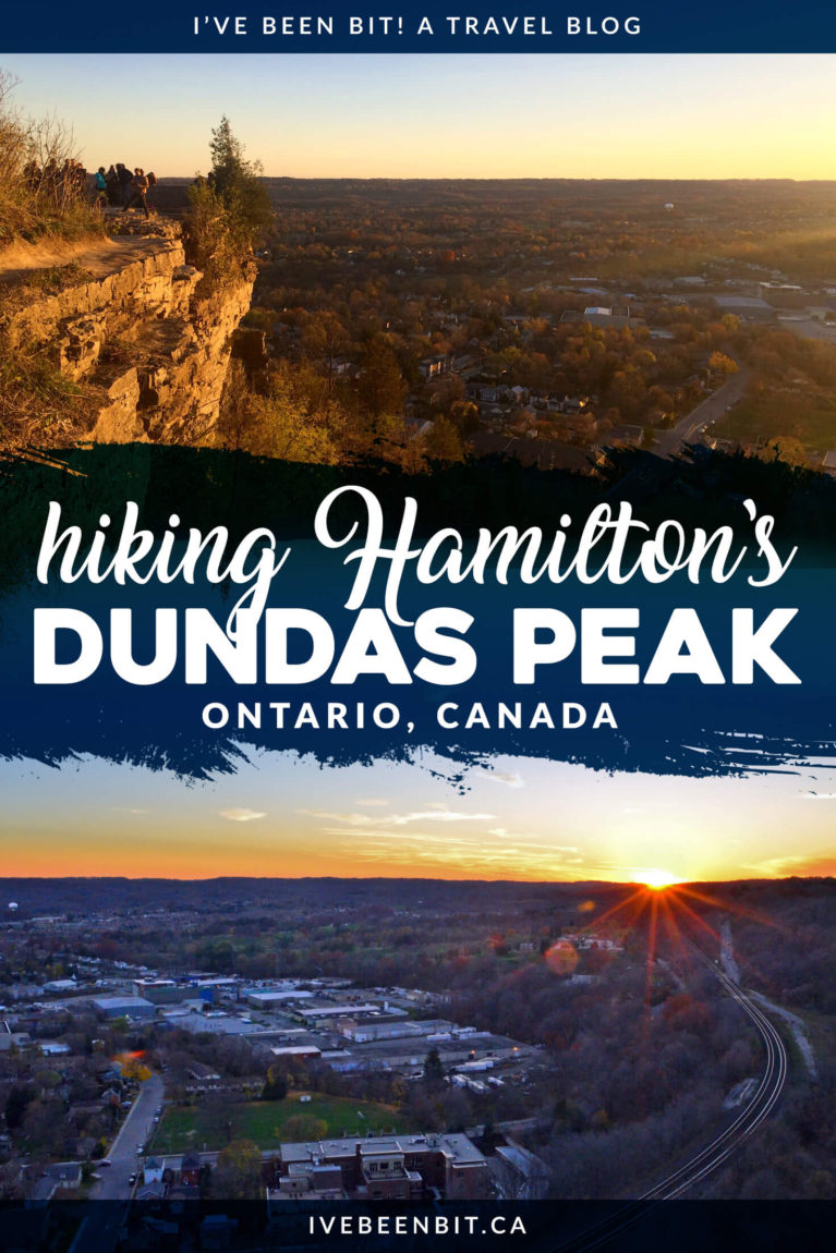 Known as the city of waterfalls, Hamilton has plenty more to offer - including the amazing Dundas Peak trail! Hike to these incredible views and you'll see why it's a popular spot for locals and visitors alike. | #Travel #Canada #Ontario #Hamilton #Hiking | IveBeenBit.ca