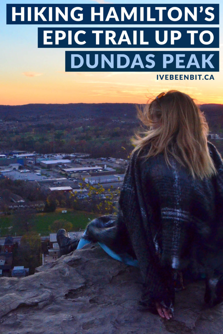 Hamilton may be known as the city of waterfalls but it also has plenty more to offer - including the incredible Dundas Peak trail! Hike to these amazing views and you'll see why it's a must-visit spot for locals and visitors alike. | #Travel #Canada #Ontario #Hamilton #Hiking | IveBeenBit.ca
