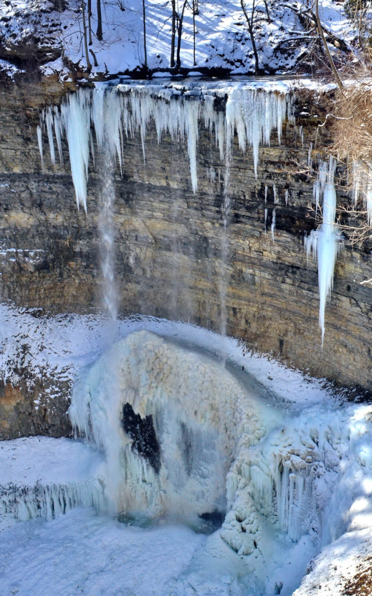 Tews Falls in the Winter with Icicle Formations :: I've Been Bit! Travel Blog