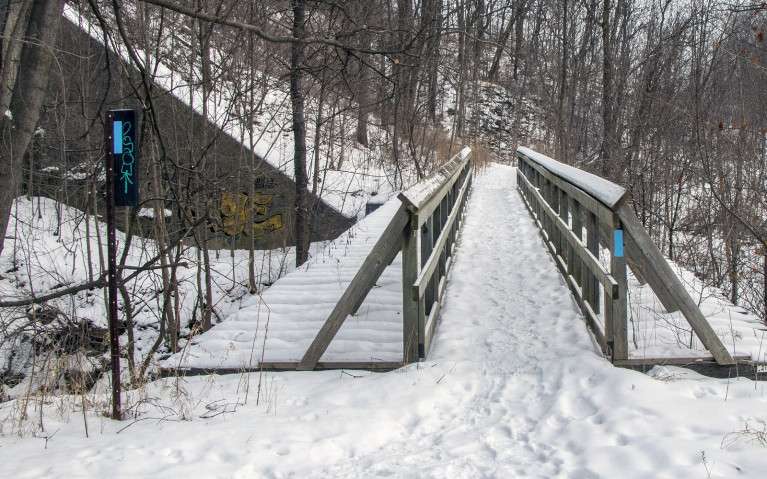 Tews Falls Side Trail to Lower Syndenham Falls along the Bruce Trail :: I've Been Bit! A Travel Blog