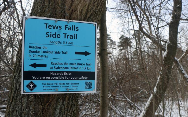 Tews Falls Side Trail Sign :: I've Been Bit! A Travel Blog