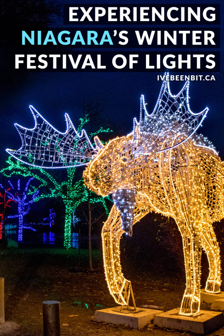 Visiting Niagara Falls? Looking for things to do in Niagara Falls in winter? You won't want to miss the Niagara Winter Festival of Lights! This incredible light display is sure to get you in the holiday spirit. It's a must do when visiting Niagara Falls! | #Travel #Canada #Ontario #NiagaraFalls #Winter | IveBeenBit.ca