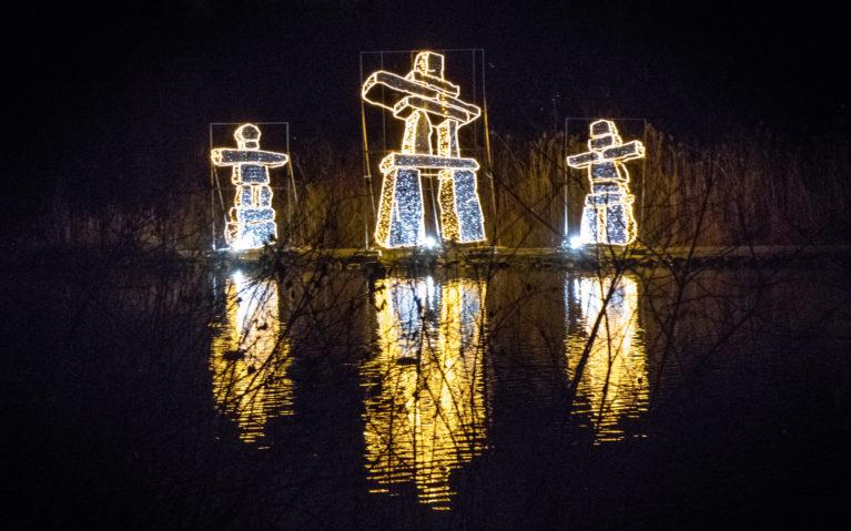 Inukshuk Display at the Niagara Winter Festival of Lights :: I've Been Bit! Travel Blog