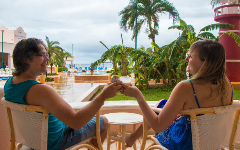 Cheers at an All Inclusive Resort in Cozumel, Mexico :: I've Been Bit! A Travel Blog