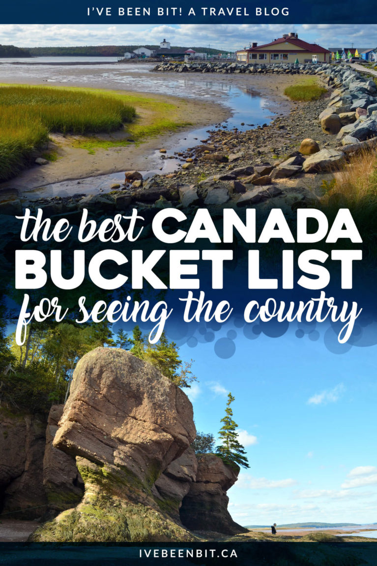 This Canada bucket list is the most thorough out there & it includes activities & experiences locals & visitors will both love from coast to coast to coast! Whether you're visiting British Columbia, Ontario, Newfoundland or anywhere in between, you'll wanna check out this epic list of things to do in Canada! | #Travel #Canada #BritishColumbia #Alberta #Saskatchewan #Manitoba #Ontario #Quebec #NewBrunswick #NovaScotia #PrinceEdwardIsland #Newfoundland #Yukon #NorthwestTerritories #Nunavut | IveBeenBit.ca