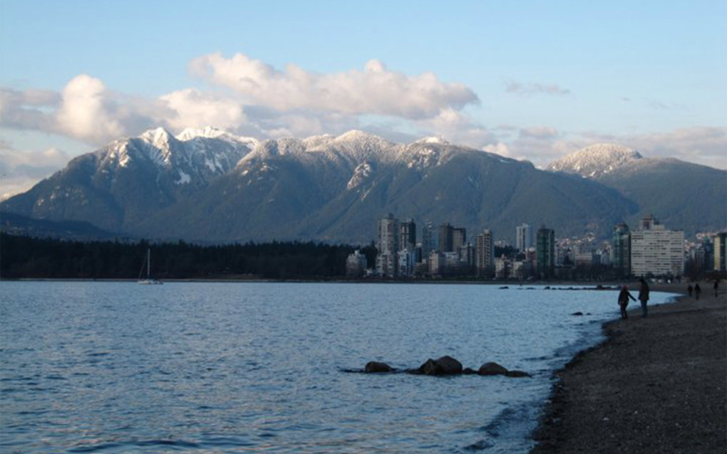 View of the Vancouver Skyline from Kitsilano Beach :: I've Been Bit! Travel Blog