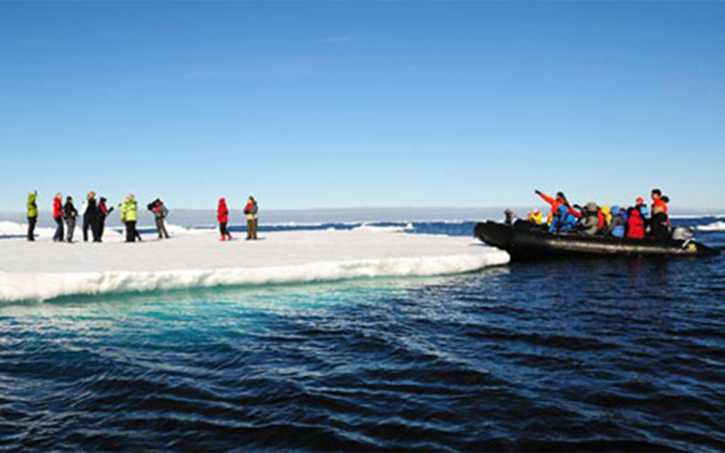 I'd say hopping on an ice floe like these people is definitely a Canada Bucket List item! :: I've Been Bit! Travel Blog