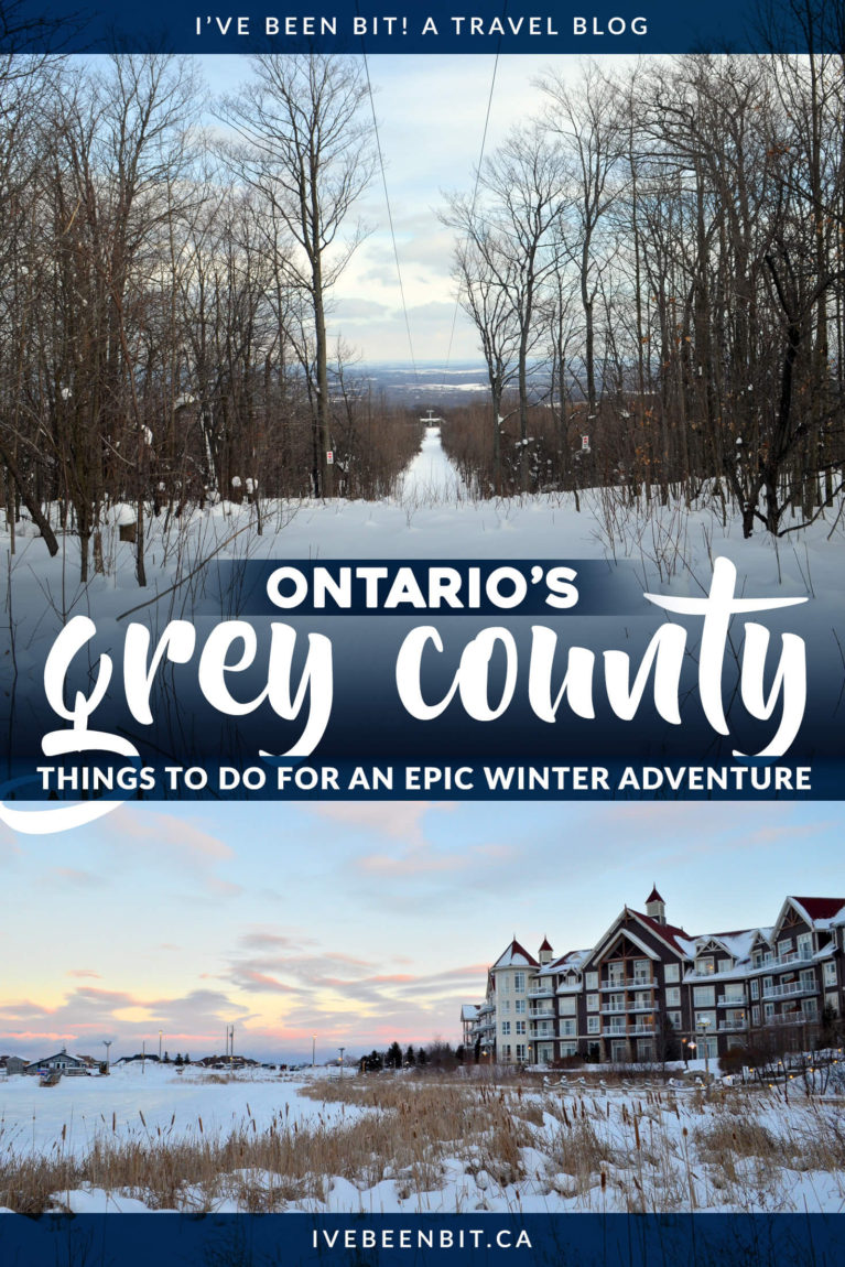 Looking for some things to do in Ontario in winter? See why Grey County is the perfect destination for an Ontario winter weekend getaway! | Grey County Ontario | Collingwood Ontario Winter | Blue Mountains Ontario Winter | Ontario Winter Getaway | Ontario Winter Travel | #Ontario #Winter #Canada | IveBeenBit.ca