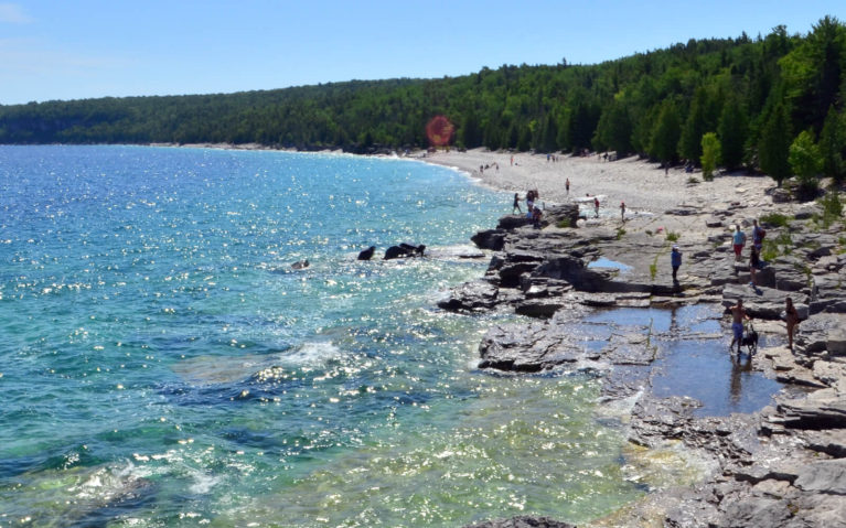 Halfway Log Dump in Bruce Peninsula National Park :: I've Been Bit! Travel Blog