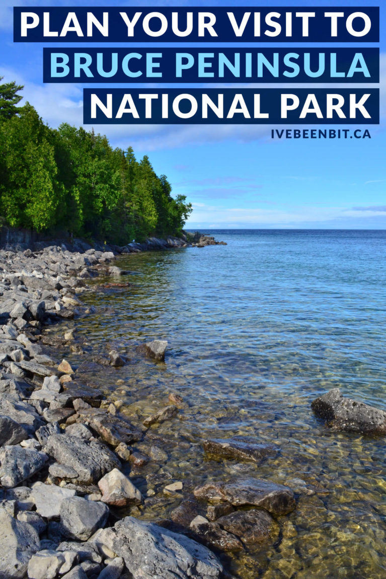 Insider tips and everything you need for a visit to Bruce Peninsula National Park. Hike to the Grotto, Indian Head Cove & more! Bruce Peninsula National Park hiking trails. Hiking the Grotto in Ontario, Canada. Visit Bruce Peninsula National Park when in Tobermory, Ontario, Canada. | #Travel #Canada #Ontario #NationalPark #ParksCanada #BrucePeninsula #Tobermory | IveBeenBit.ca