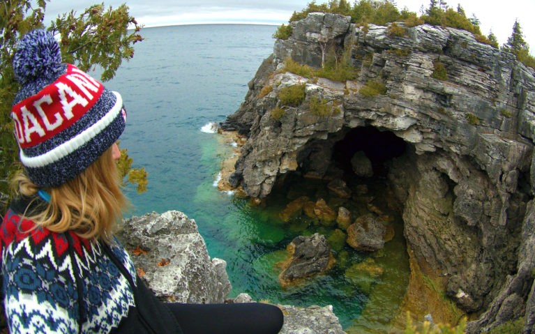 Lindsay at The Grotto, Bruce Peninsula National Park :: I've Been Bit! Travel Blog
